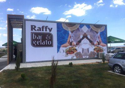 Печат и монтаж на винил с капси – Raffy Bar & Gelato