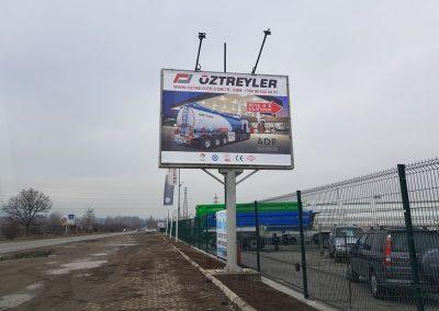 Печат и монтаж на билборд на фирма OZTREYLER