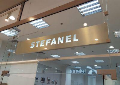 Обемна светеща LED реклама STEFANEL