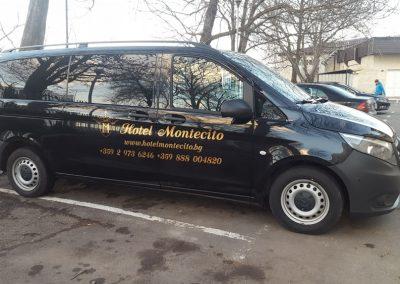 Облепване на автомобил на хотел MONTESITO