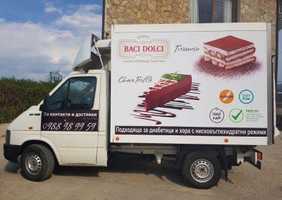 Облепване на автомобили на BACI DOLCI
